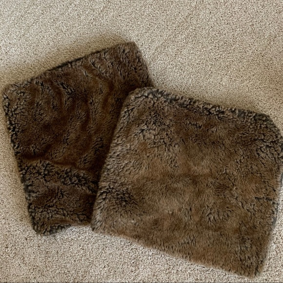 Restoration Hardware Faux Fur Pillow Covers